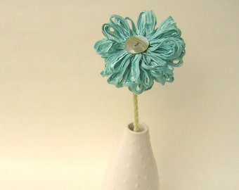 Seafoam Fabric Flower, table decor, wedding decor, mint green