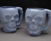 Blue Skull Mug (reserved for guillotinejewel)