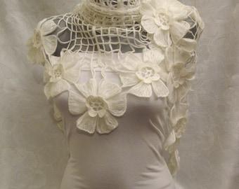 ON SALE Wedding White Shawl