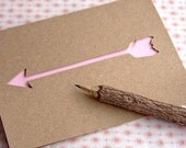 Pink Arrow Note Card - Paper Cut