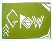 Papercut Greeting Card - Grow Green Note Card