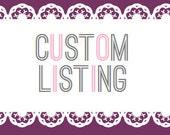 Custom Bulk Order Listing - Reserved for Evette