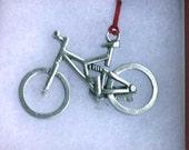 Mountain Bike Ornament - Pewter Full Suspension