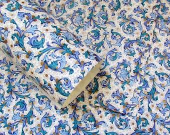 Blue Florentine Decorative Paper - 9x12 - Qty:4