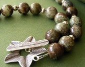RESERVED Nag Champa - Snakeskin Jasper Chunky Necklace