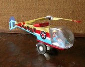 Vintage Collectible Item Tin Toy Helicopter