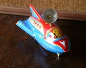 Vintage Collectible Item Space Rocket. Tin Toy.