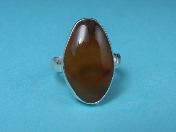 Petrified Wood Gemstone Sterling Ring