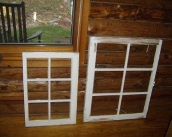 Repurposed, Vintage, Antique, Old Window Panes For the Arts and Craft