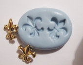 Fleur de Lis Flexible Silicone Push Mold for Polymer clay, Resin,Wax,Miniature Food,Sweets and more..