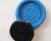 LARGE oreo cookie biscuit Flexible Silicone Push Mold for Polymer clay, Resin,Wax,Miniature Food,Sweets,plaster