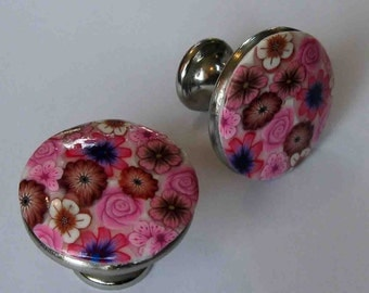 New Beautiful Polymer clay Handmade Cabinet Drawer Knobs by myfiori