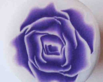 Fimo polymer clay purple rose cane by orly