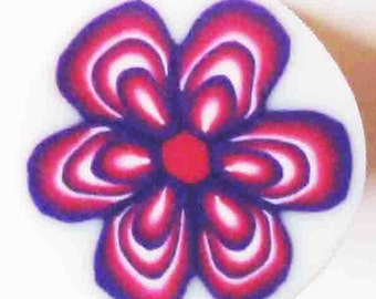 Fimo polymer clay flower cane by orly