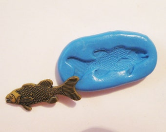 Fish Flexible Silicone Push Mold for Polymer clay, Resin,Wax,Miniature Food,Sweets and more..
