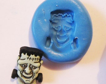 Frankenstein Flexible Silicone Push Mold for Polymer clay, Resin,Wax,Miniature Food,Sweets and more..
