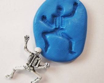 SKELETON Flexible Silicone Push Mold for Polymer clay, Resin,Wax,Miniature Food,Sweets,plaster