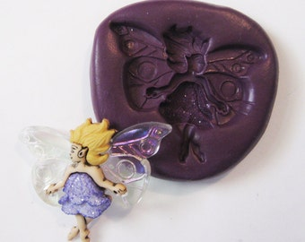 WOODLAND FAIRY Flexible Silicone Push Mold for Polymer clay, Resin,Wax,Miniature Food,Sweets and more..