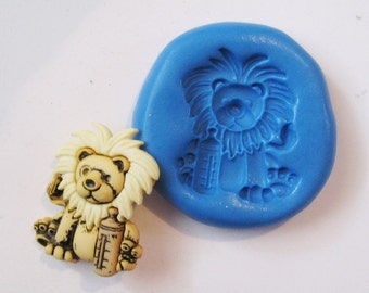 Lion Flexible Silicone Push Mold for Polymer clay, Resin,Wax,Miniature Food,Sweets and more..