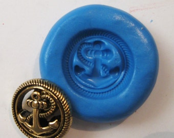 ANCHOR  Flexible Silicone Push Mold for Polymer clay, Resin,Wax,Miniature Food,Sweets,plaster