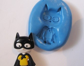 Super Hero Flexible Silicone Push Mold for Polymer clay, Resin,Wax,Miniature Food,Sweets,plaster