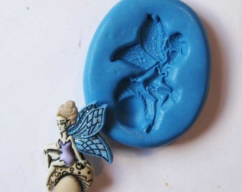 FAIRY Flexible Silicone Push Mold for Polymer clay, Resin,Wax,Miniature Food,Sweets and more..