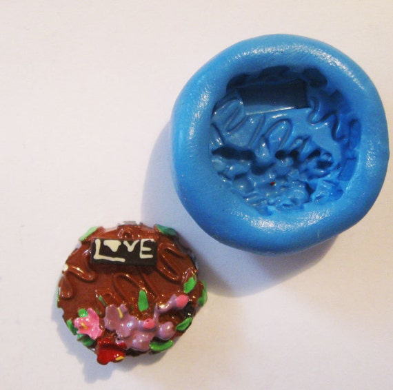 Cake Flexible Silicone Push Mold for Polymer clay, Resin,Wax,Miniature Food,Sweets and more..