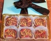 Swirl of Fire Chocolate Soaps