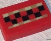 Kitchen Red Mosaic Soap Mango Sorbet