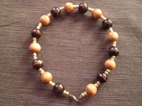 SALE...Wooden Bead Anklet