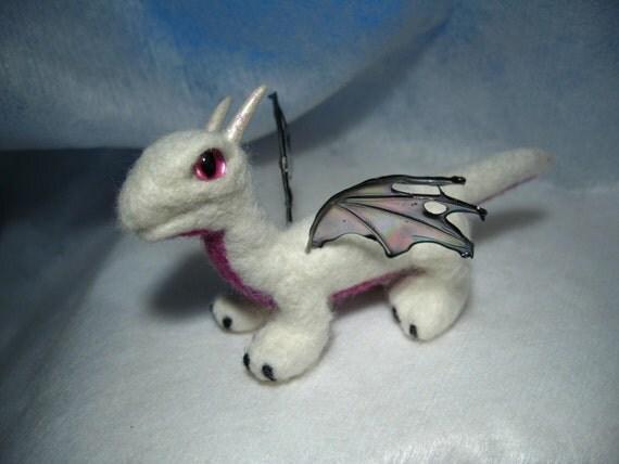 SALE: Needle felted baby dragon - Banshee