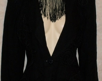 Vintage 80s Black  Jacket