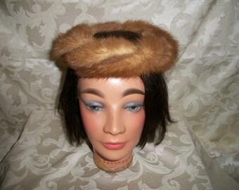 Vintage  Mink Fur Headpiece Hat by Coralie