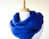 Cotton linen infinity scarf wrap