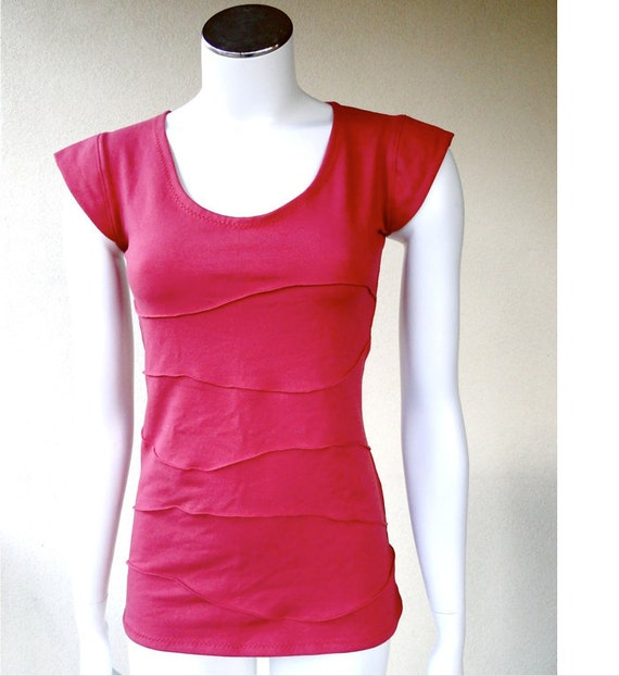 Organic Cotton Fitted Tshirt Cropped Top Organic Shirt