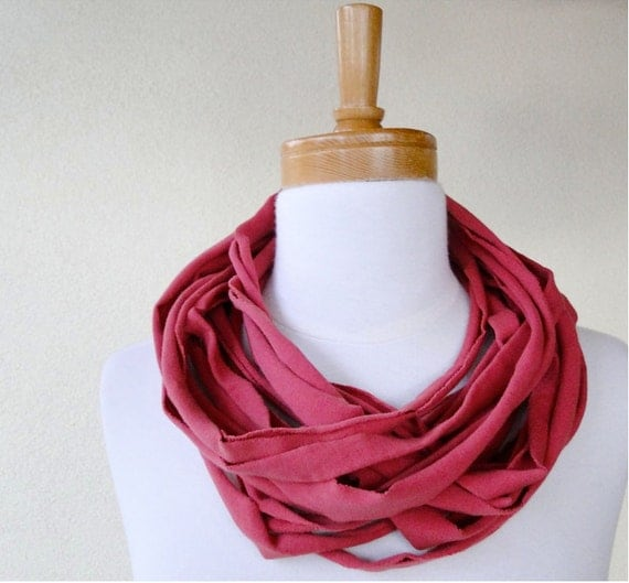 SALE Organic cotton Linguine cowl scarf neck warmer Holiday gift idea