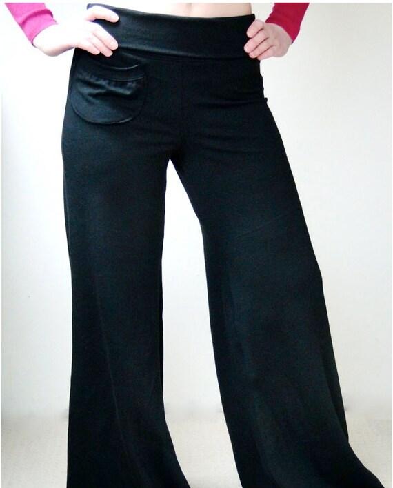 Organic cotton pants, wide leg pant, yoga pants, organic workout pants, handmade clothes