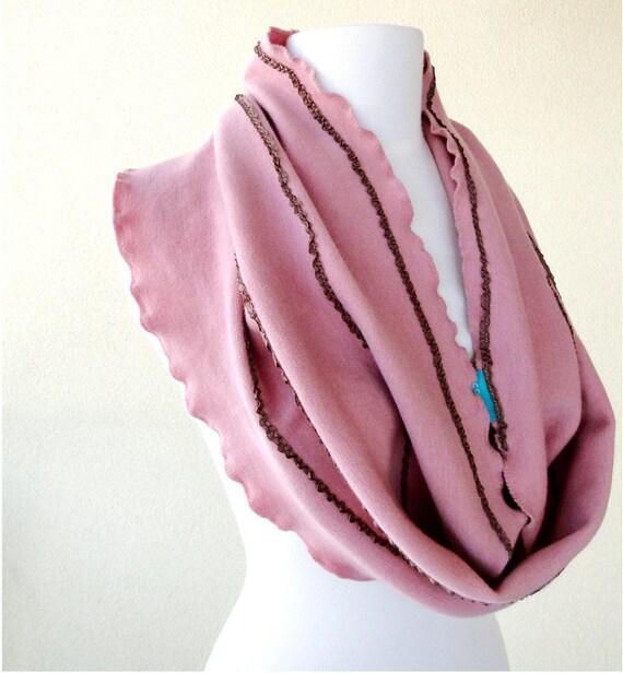 SALE Organic wool infinity scarf neck warmer cowl