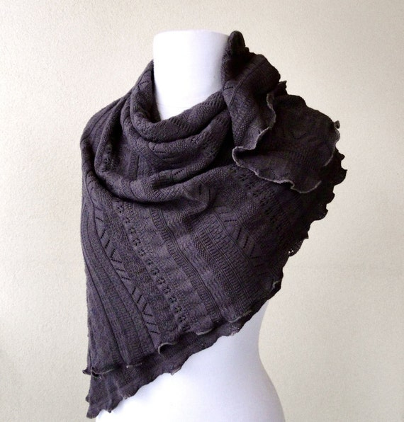 SALE eco friendly large cotton shawl scarf. One of a kind. ready to ship