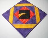 Purple chilli plate mat