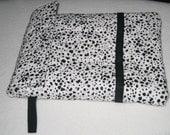 Kindle iPad sleeve - spotted dog fabric