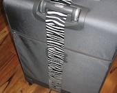 Wild Thing - zebra stripe luggage wrap