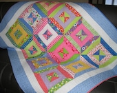 Bright lap quilt