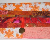 Clutch for Kindle - Orange flowers