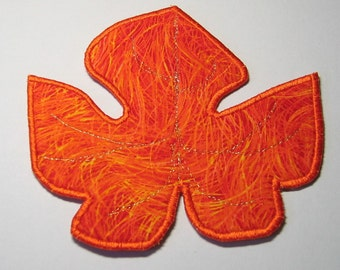 Medium grape leaf-shaped plate mat (orange)