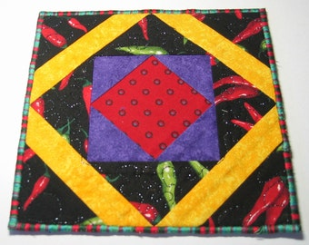 Chilli plate mat (red center)