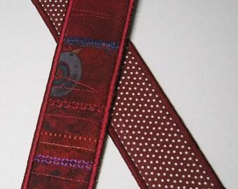 Graduated burgundy bookmark
