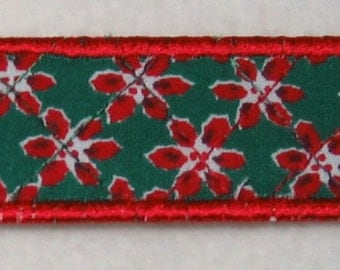 Red and green bookmark - Christmas theme