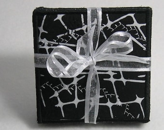Black and white coasters - set of four