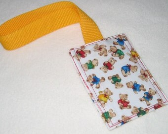 Tiny Teddies luggage tag